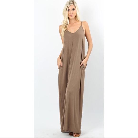 35d5c706b7 Mocha Oversized Cocoon Maxi Dress S M L XL 🌸